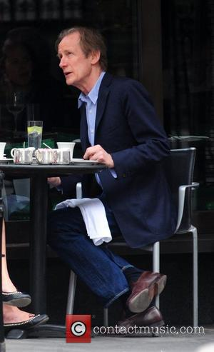 Bill Nighy  having lunch at Cecconi's restaurant London, England - 03.07.09