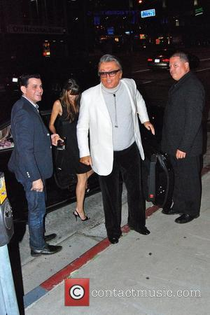 Robert Evans and family Celebrities outside BOA restaurant in West Hollywood Los Angeles, California - 14.08.09