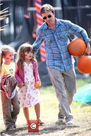 Breckin Meyer  takes his daughter Keaton Willow Meyer and her friend to the Mr. Bones Pumpkin Patch to pick...