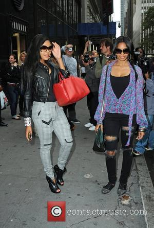 Vanessa Simmons and Angela Simmons arriving at Bryant Park Mercedes-Benz IMG New York Fashion Week Spring/Summer 2010 New York City,...