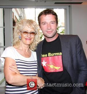 James Purefoy and Guest The UK premiere of 'Burma VJ' at BAFTA - Inside London, England - 14.07.09