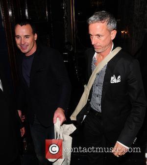 David Furnish, Patrick Cox and Cafe De Paris