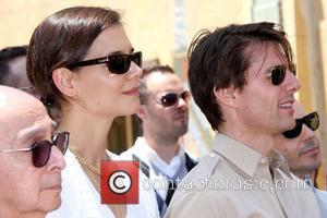 Katie Holmes, Tom Cruise, Star On The Hollywood Walk Of Fame and Walk Of Fame