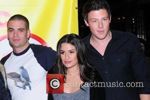 Mark Salling, Lea Michele and Cory Monteith The cast of Glee sign copies of 'Glee: The Music Vol. 1 at...