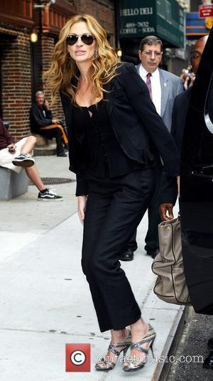 Julia Roberts and David Letterman