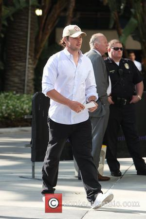 Tom Welling arriving at the first game of the NBA National Championship Tournament between the L.A. Lakers and Orlando Magic...