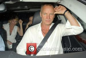 Sting and Trudie Styler leaving Scott's Restaurant together in the car London, England - 30.06.09