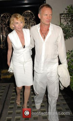 Sting and Trudie Styler leaving Scott's Restaurant together London, England - 30.06.09