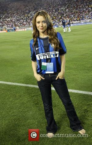Alyssa Milano Chelsea v Inter Milan at the Rose Bowl Pasadena, California - 21.07.09
