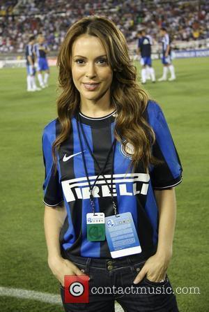Alyssa Milano Chelsea v Inter Milan at the Rose Bowl Pasadena, California - 21.07.09
