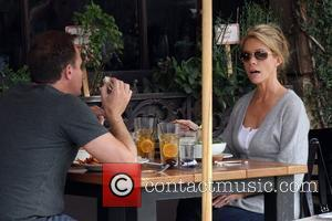 Cheryl Hines  seen eating cupcakes at the Toast Bakery Cafe with a friend. Beverly Hills, California - 27.10.09