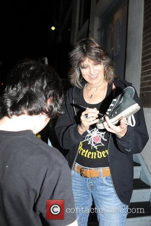 Chrissie Hynde signs for fans outside the Electric Factory after performing with The Pretenders Philadelphia, USA - 13.08.09