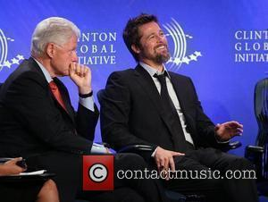 Bill Clinton and Brad Pitt