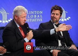 Bill Clinton and Brad Pitt The Fifth Annual Meeting of the Clinton Global Initiative (CGI) - Day 3 - at...