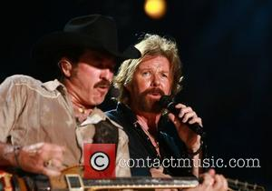 Kix Brooks and Ronnie Dunn AKA Brooks and Dunn performing live at LP Field as part of the CMA Music...
