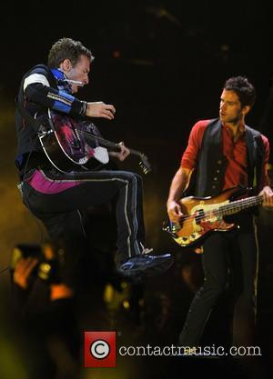 Coldplay Live at the Wembley Stadium promoting last year's album Viva La Vida Or Death And All His Friends London,...