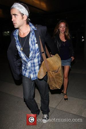 Colin Farrell and Girlfriend Alicja Bachleda Arrive At Lax Airport After Vacationing In Cabo
