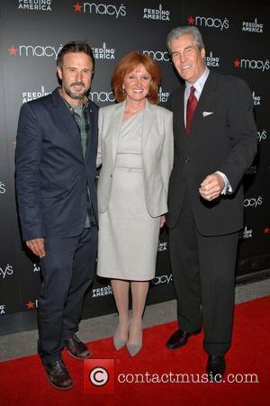David Arquette, CEO Vicki B. Escarra and Macy's CEO Terry Lundgren