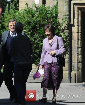 David Neilson and Julie Hesmondhalgh The cast of 'Coronation Street' filming scenes for the wedding of Becky Granger and Steve...