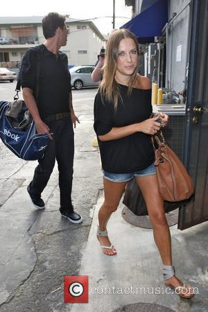 Ashley Hamilton and Edyta Sliwinska Contestants outside a rehearsal studio preparing for 'Dancing with the Stars' Los Angeles, California -...