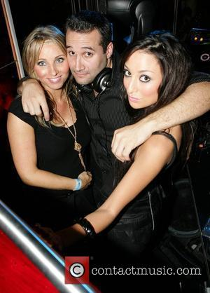 Dane Bowers pictured with Liz Deasy and Michelle Montgomery as he performs a DJ set at the Dandelion Bar Dublin,...