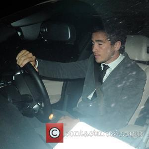Danny Cipriani leaves the BBC studios with girlfriend Kelly Brook London, England - 10.10.09