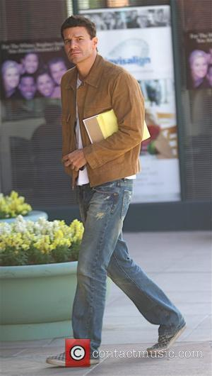 David Boreanaz  was spotted leaving a medical centre in Beverly Hills Los Angeles, California, USA - 29.10.09