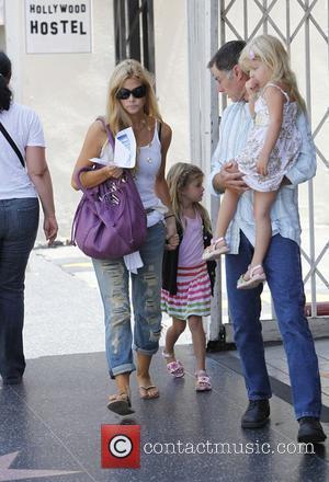 Denise Richards taking her daughters Lola Rose Sheen-Estevez and Sam J. Sheen-Estevez to the El Capitan Theatre Hollywood, California -...