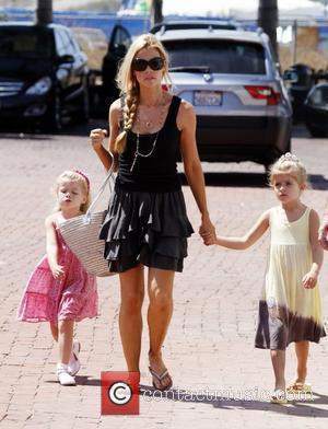 Denise Richards takes her daughters to a park in Malibu California, USA - 05.09.09