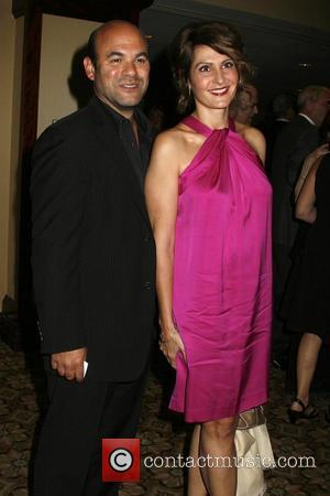 Ian Gomez and Nia Vardalos The National Multiple Sclerosis Society's 35th Annual Dinner of Champions held at the Hyatt Regency...