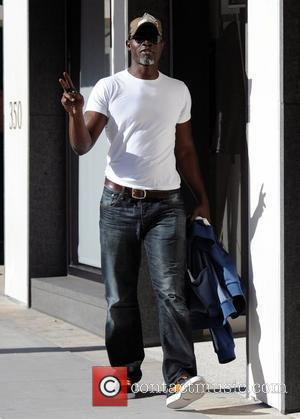 Djimon Hounsou departs Caffe Roma in Beverly Hills Los Angeles, California - 16.10.09