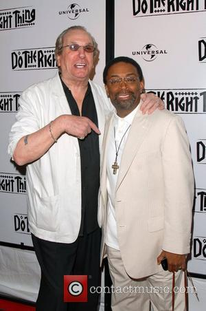 Danny Aiello and director Spike Lee attend the 20th Anniversary Screening of 'Do The Right Thing' at Directors Guild of...