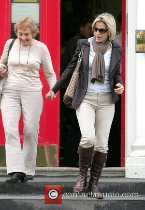 Emily Maitlis drops off her kids at school London, England - 21.09.09