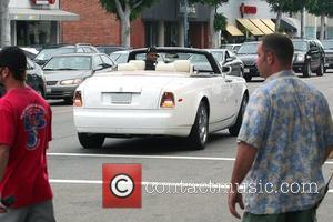 50 Cent, aka Curtis Jackson, on the set of HBO's 'Entourage' Los Angeles, California - 12.06.09