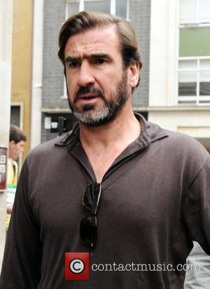Eric Cantona arrives at the BBC Radio 1 studios London, England - 05.05.09