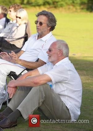 Eric Clapton and Bob Harris Bunbury charity cricket match - Cranleigh v Eric Clapton X1 Surrey, England - 12.07.09