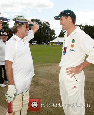 Eric Clapton, Graeme Hick Bunbury charity cricket match - Cranleigh v Eric Clapton X1 Surrey, England - 12.07.09