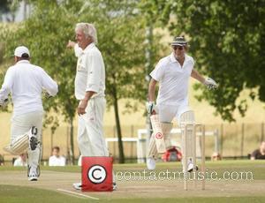 Eric Clapton, Jeff Thomson Bunbury charity cricket match - Cranleigh v Eric Clapton X1 Surrey, England - 12.07.09