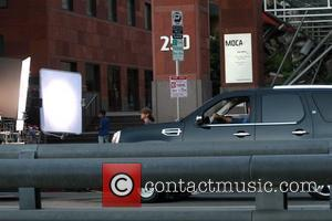 Eric Dane filming on location outside the Museum of Contemporary Art in Downtown Los Angeles Los Angeles, California - 28.07.09