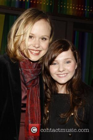 Alison Pill and Abigail Breslin Opening night of the classic Broadway musical 'Finian's Rainbow' held at the St. James Theatre....