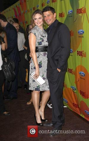 Emily Deschanel and David Boreanaz 2009 Fox Fall Eco-Casino party held at the BOA steakhouse Los Angeles, California - 14.09.09