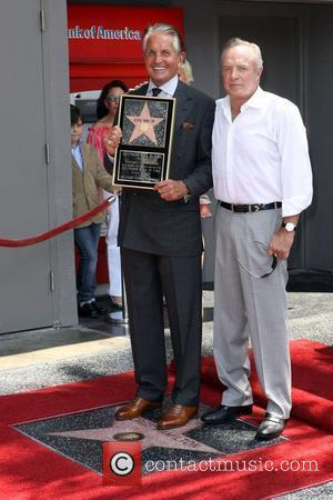 George Hamilton and James Caan Hamilton is honored on the Hollywood Walk Of Fame. Hollywood, California - 12.08.09