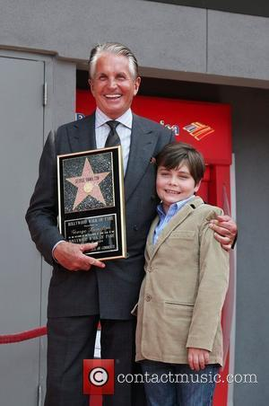 George Hamilton and Son, George Thomas Hamilton George Hamilton is honored on the Hollywood Walk Of Fame. Hollywood, California -...