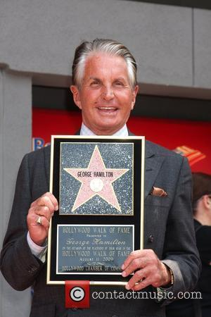 George Hamilton is honored on the Hollywood Walk Of Fame. Hollywood, California - 12.08.09