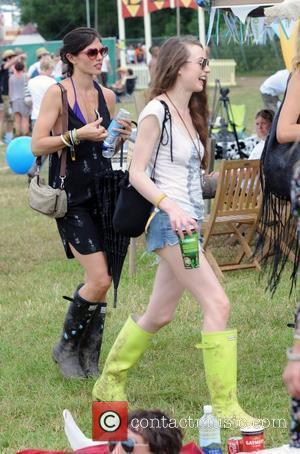 Elizabeth Jagger and Glastonbury Festival