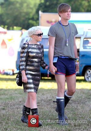 Little Boots aka Victoria Hesketh and her boyfriend backstage during the 2009 Glastonbury Festival - Day 2 Somerset, England -...
