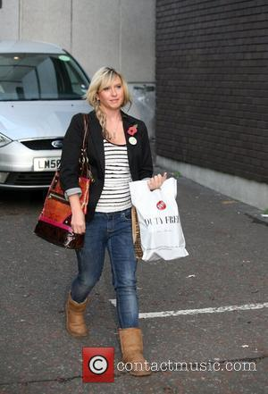 Brooke Kinsella leaving the London studios after appearing on GMTV London, England - 11.11.09