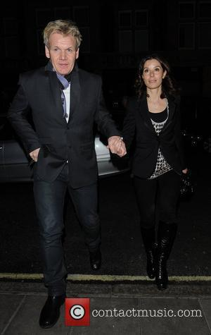 Tana Ramsay and Gordon Ramsay outside Scott's restaurant London, England - 03.12.09