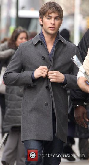 Chace Crawford on the set of 'Gossip Girl' shooting on location in Manhattan New York City, USA - 02.12.09