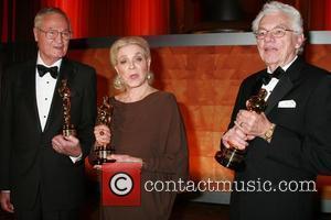 Roger Corman and Lauren Bacall